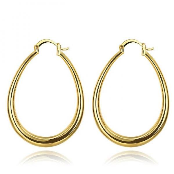 Jenny Jewelry E032-A 18K Gold Plating High Quality Ziccon Fashion Earring