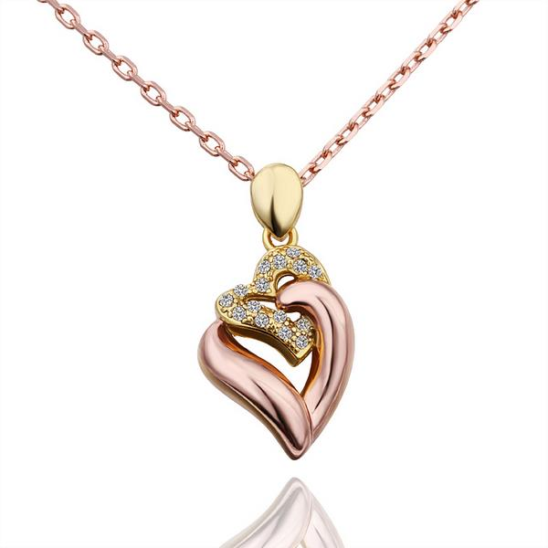 Jenny Jewelry N573 18K Real Gold Plated Women Fashion Pendant Necklace Jewelry