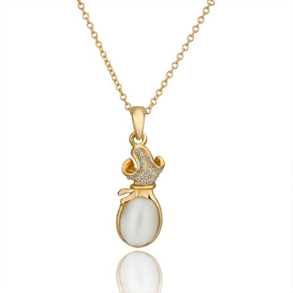 Jenny Jewelry N643 18K Real Gold Plated Necklace pendantsNew Fashion JewelryFor Women