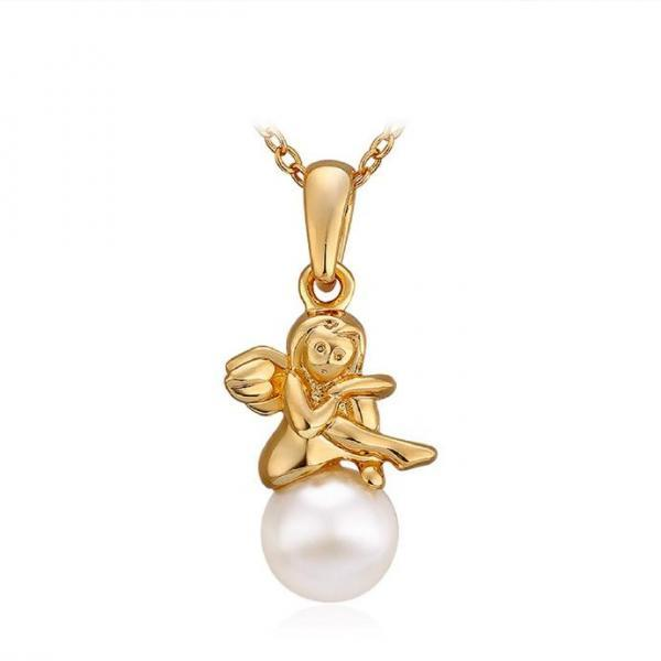 Jenny Jewelry N739 18K Real Gold Plated Necklace pendantsNew Fashion JewelryFor Women