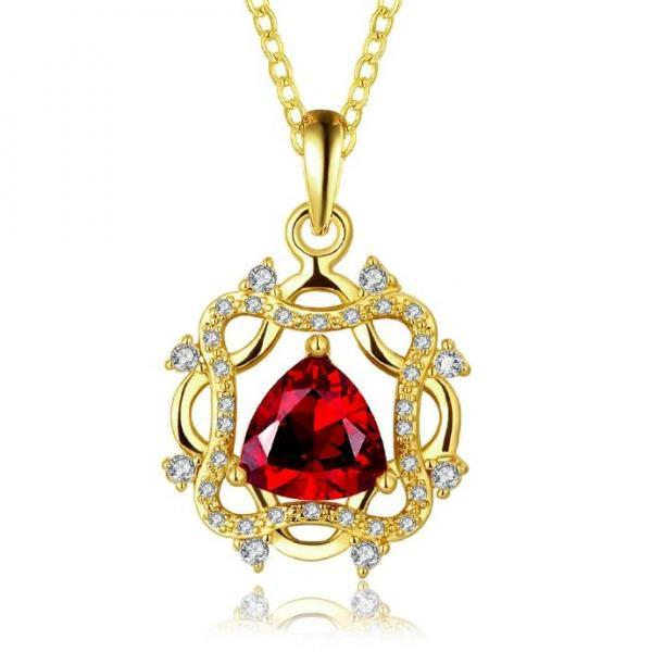 Jenny Jewelry N889-A 18K Real Gold Plated Necklace pendants New Fashion Jewelry