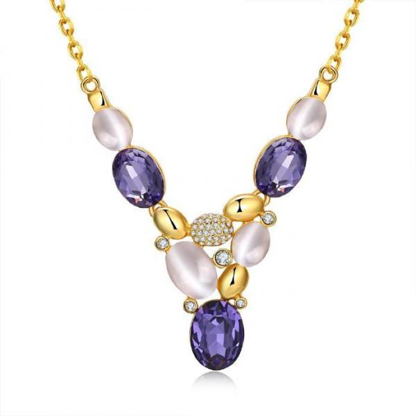 Jenny Jewelry N925 18K Real Gold Plated Necklace pendants New Fashion Jewelry