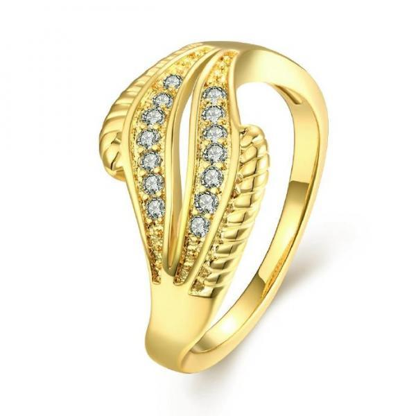 Jenny Jewelry R206-A-8 High Quality New Fashion Jewelry White Plated zircon Ring ,Available Size 7,8