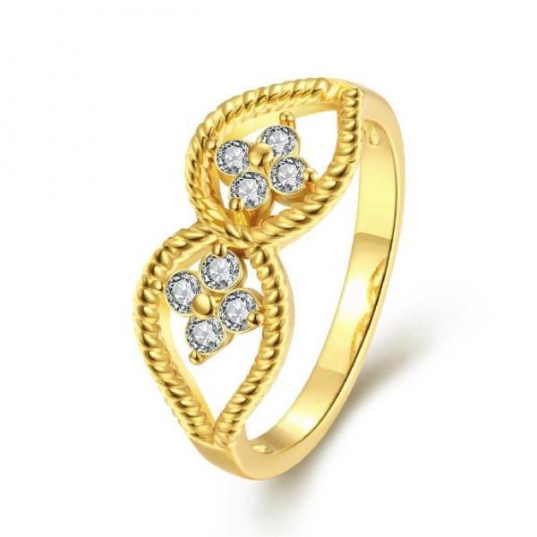 Jenny Jewelry R208-A-8 High Quality New Fashion Jewelry White Plated zircon Ring
