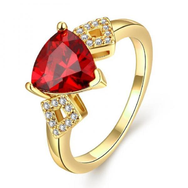 Jenny Jewelry R212-A-8 High Quality New Fashion Jewelry White Plated zircon Ring