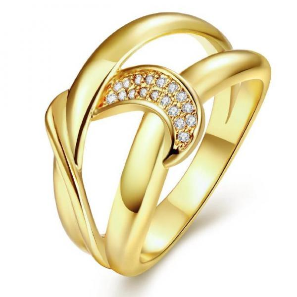 Jenny Jewelry R263-A-8 High Quality New Fashion Jewelry White Plated zircon Ring