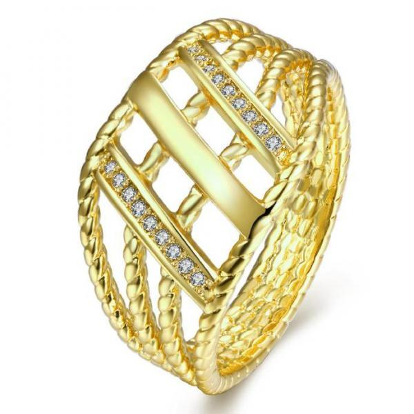 Jenny Jewelry R264-A-8 High Quality New Fashion Jewelry White Plated zircon Ring