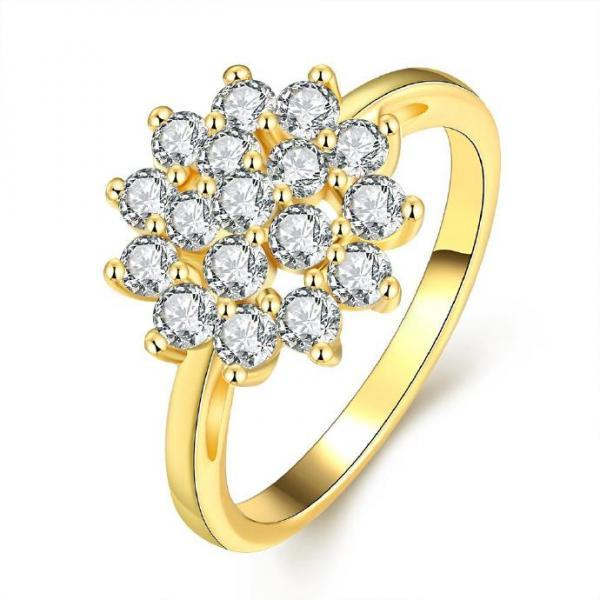 Jenny Jewelry R342-A High Quality New Fashion Jewelry White Plated zircon Ring