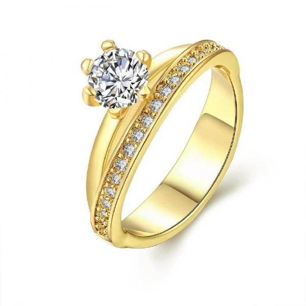 Jenny Jewelry R344-A High Quality New Fashion Jewelry White Plated zircon Ring