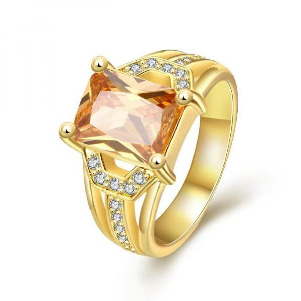 Jenny Jewelry R389-A-8 High Quality New Fashion Jewelry White Plated zircon Ring