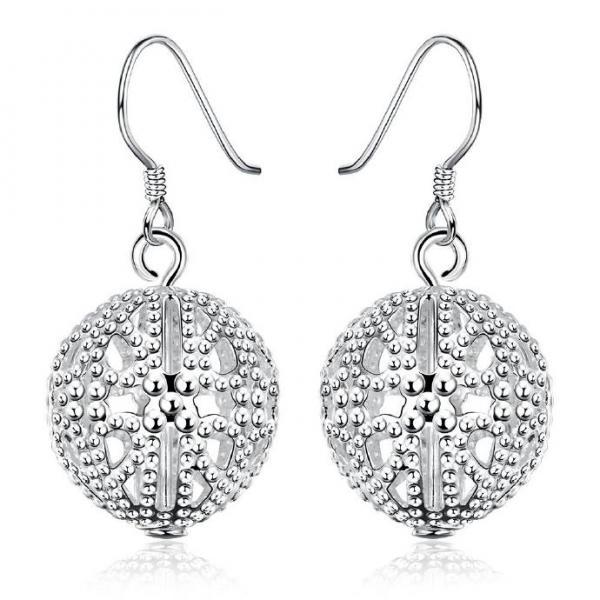 Jenny Jewelry E639 Highly polished silver chandelier Earring