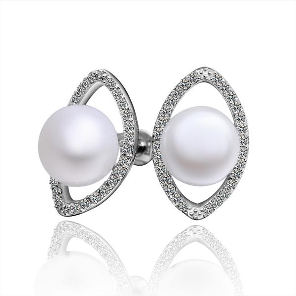 Jenny Jewelry E001 Brilliant Tiny Artificial Pearl Earring