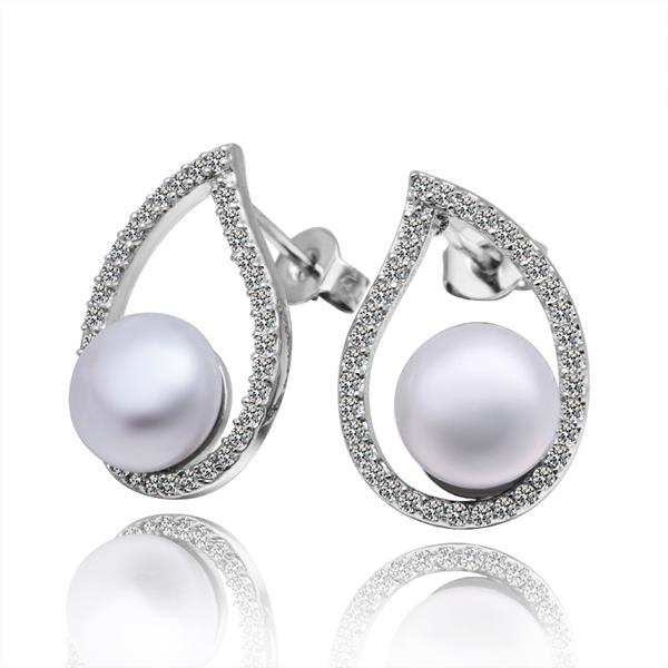 Jenny Jewelry E011 Brilliant Tiny Artificial Pearl Earring