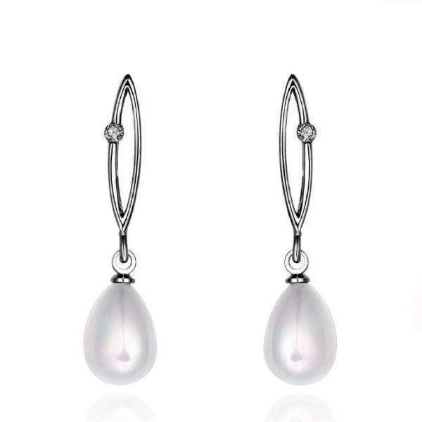 Jenny Jewelry E045 Brilliant Tiny Artificial Pearl Earring
