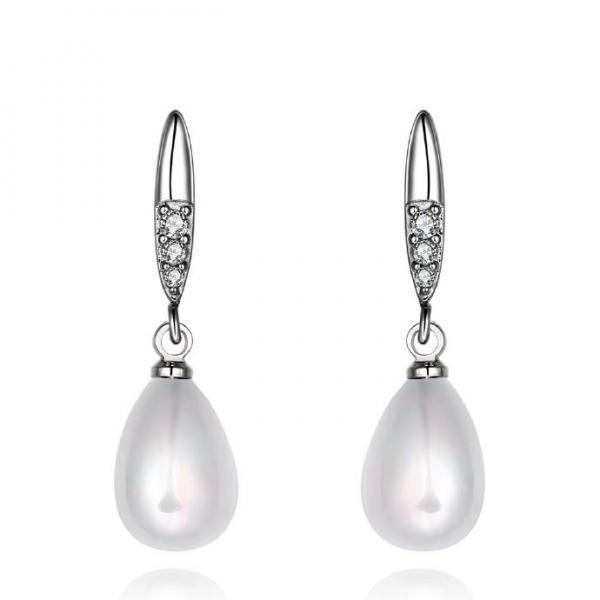 Jenny Jewelry E046 Brilliant Tiny Artificial Pearl Earring