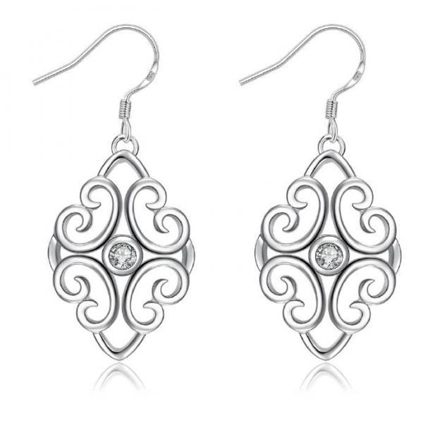 Jenny Jewelry E006 New Fashion New Style Jewelry Silver Plated Earring