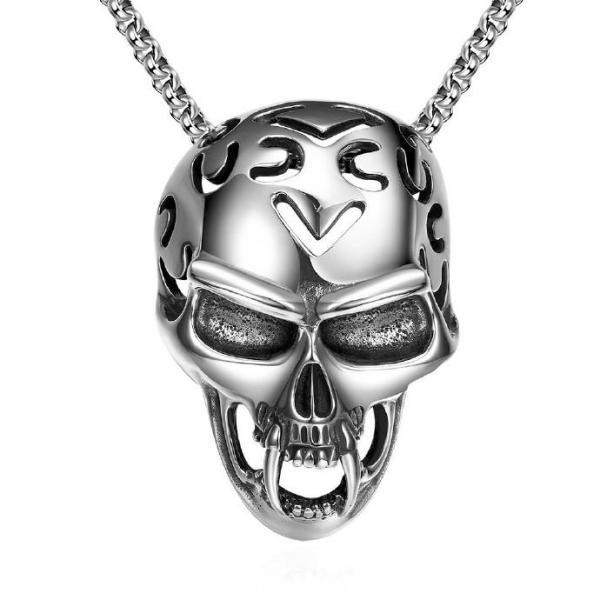 Jenny Jewelry N023 Titanium fashion chain 316L stainless steel vintage pendant necklace