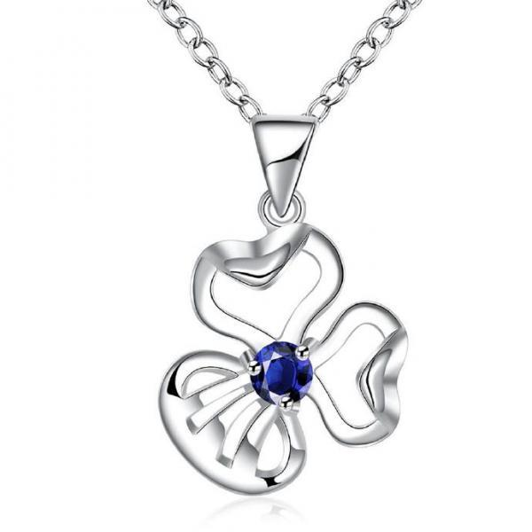 Jenny Jewelry N001 Silver plated necklace brand new design pendant necklaces jewelry for women