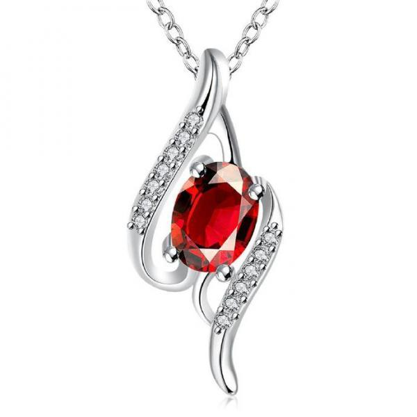 Jenny Jewelry N009-A Silver plated necklace brand new design pendant necklaces jewelry for women