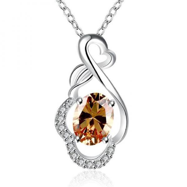 Jenny Jewelry N010-A Silver plated necklace brand new design pendant necklaces jewelry for women