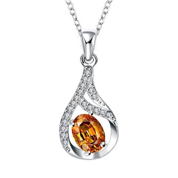 Jenny Jewelry N017 Silver plated necklace brand new design pendant necklaces jewelry for women
