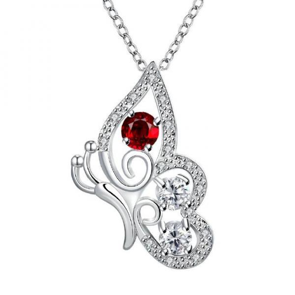 Jenny Jewelry N027-A Silver plated necklace brand new design pendant necklaces jewelry for women